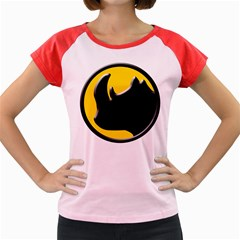 Black Rhino Logo Women s Cap Sleeve T Shirt