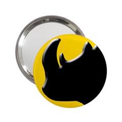Black Rhino Logo 2 25  Handbag Mirrors