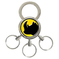 Black Rhino Logo 3 Ring Key Chains
