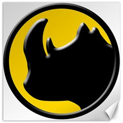 Black Rhino Logo Canvas 20  X 20