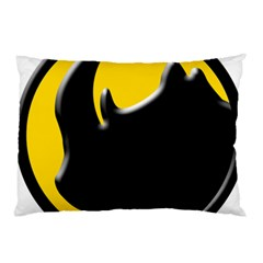 Black Rhino Logo Pillow Case