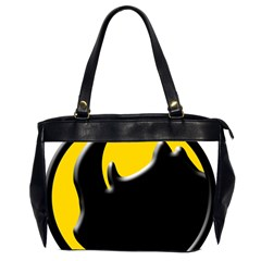 Black Rhino Logo Office Handbags (2 Sides)