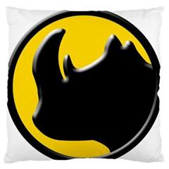 Black Rhino Logo Large Flano Cushion Case (two Sides)