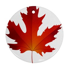 Autumn Maple Leaf Clip Art Ornament (round)