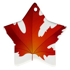 Autumn Maple Leaf Clip Art Ornament (star)