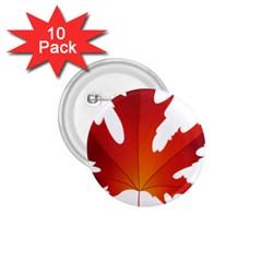 Autumn Maple Leaf Clip Art 1 75  Buttons (10 Pack)