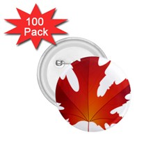 Autumn Maple Leaf Clip Art 1 75  Buttons (100 Pack)
