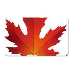 Autumn Maple Leaf Clip Art Magnet (rectangular)