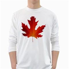 Autumn Maple Leaf Clip Art White Long Sleeve T Shirts