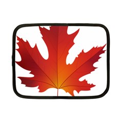 Autumn Maple Leaf Clip Art Netbook Case (small)