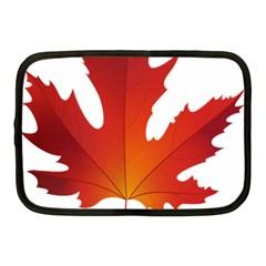 Autumn Maple Leaf Clip Art Netbook Case (medium)