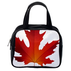 Autumn Maple Leaf Clip Art Classic Handbags (one Side)