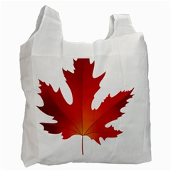 Autumn Maple Leaf Clip Art Recycle Bag (one Side)