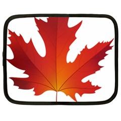 Autumn Maple Leaf Clip Art Netbook Case (xl)
