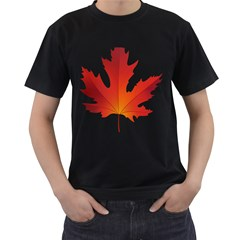 Autumn Maple Leaf Clip Art Men s T Shirt (black)