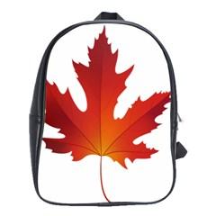 Autumn Maple Leaf Clip Art School Bags(large)