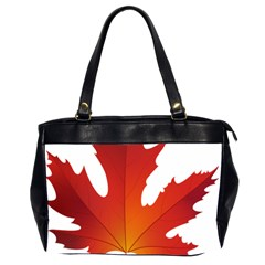 Autumn Maple Leaf Clip Art Office Handbags (2 Sides)