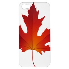 Autumn Maple Leaf Clip Art Apple Iphone 5 Hardshell Case