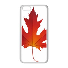 Autumn Maple Leaf Clip Art Apple Iphone 5c Seamless Case (white)