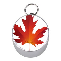 Autumn Maple Leaf Clip Art Mini Silver Compasses