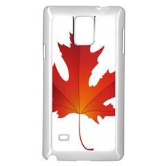 Autumn Maple Leaf Clip Art Samsung Galaxy Note 4 Case (white)