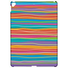 Colorful Horizontal Lines Background Apple Ipad Pro 12 9   Hardshell Case