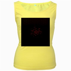 Abstract Pattern Honeycomb Women s Yellow Tank Top