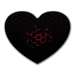 Abstract Pattern Honeycomb Heart Mousepads