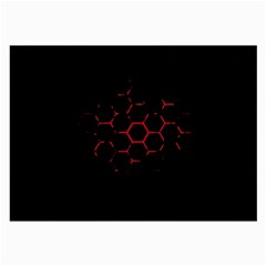 Abstract Pattern Honeycomb Large Glasses Cloth