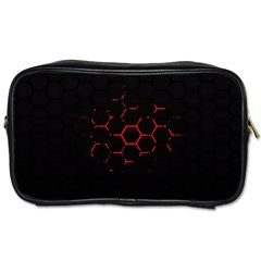 Abstract Pattern Honeycomb Toiletries Bags 2 Side