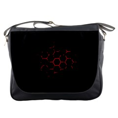 Abstract Pattern Honeycomb Messenger Bags