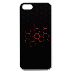 Abstract Pattern Honeycomb Apple Seamless Iphone 5 Case (clear)