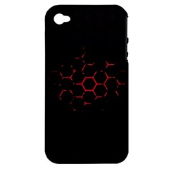 Abstract Pattern Honeycomb Apple Iphone 4/4s Hardshell Case (pc+silicone)