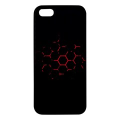 Abstract Pattern Honeycomb Iphone 5s/ Se Premium Hardshell Case