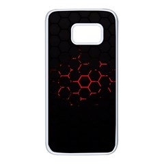 Abstract Pattern Honeycomb Samsung Galaxy S7 White Seamless Case