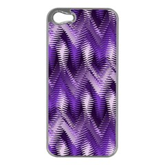 Purple Wavy Apple Iphone 5 Case (silver)