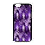 Purple Wavy Apple iPhone 6/6S Black Enamel Case Front