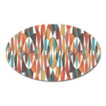Colorful Geometric Abstract Oval Magnet Front
