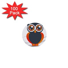 Owl Logo 1  Mini Buttons (100 Pack)