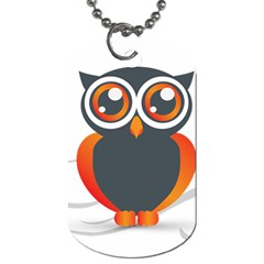 Owl Logo Dog Tag (one Side)