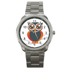 Owl Logo Sport Metal Watch