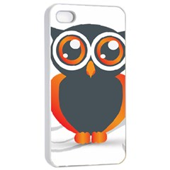 Owl Logo Apple Iphone 4/4s Seamless Case (white)