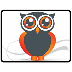 Owl Logo Double Sided Fleece Blanket (large)