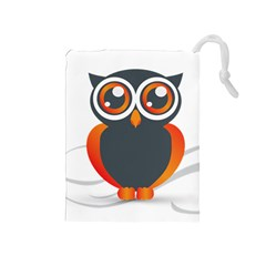 Owl Logo Drawstring Pouches (medium)