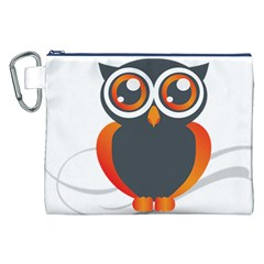 Owl Logo Canvas Cosmetic Bag (xxl)
