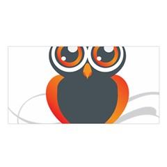 Owl Logo Satin Shawl