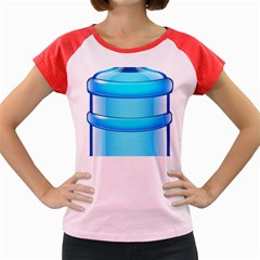 Large Water Bottle Women s Cap Sleeve T Shirt