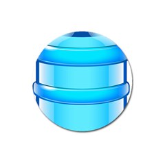 Large Water Bottle Magnet 3  (round)