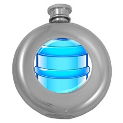 Large Water Bottle Round Hip Flask (5 Oz)
