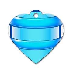 Large Water Bottle Dog Tag Heart (two Sides)